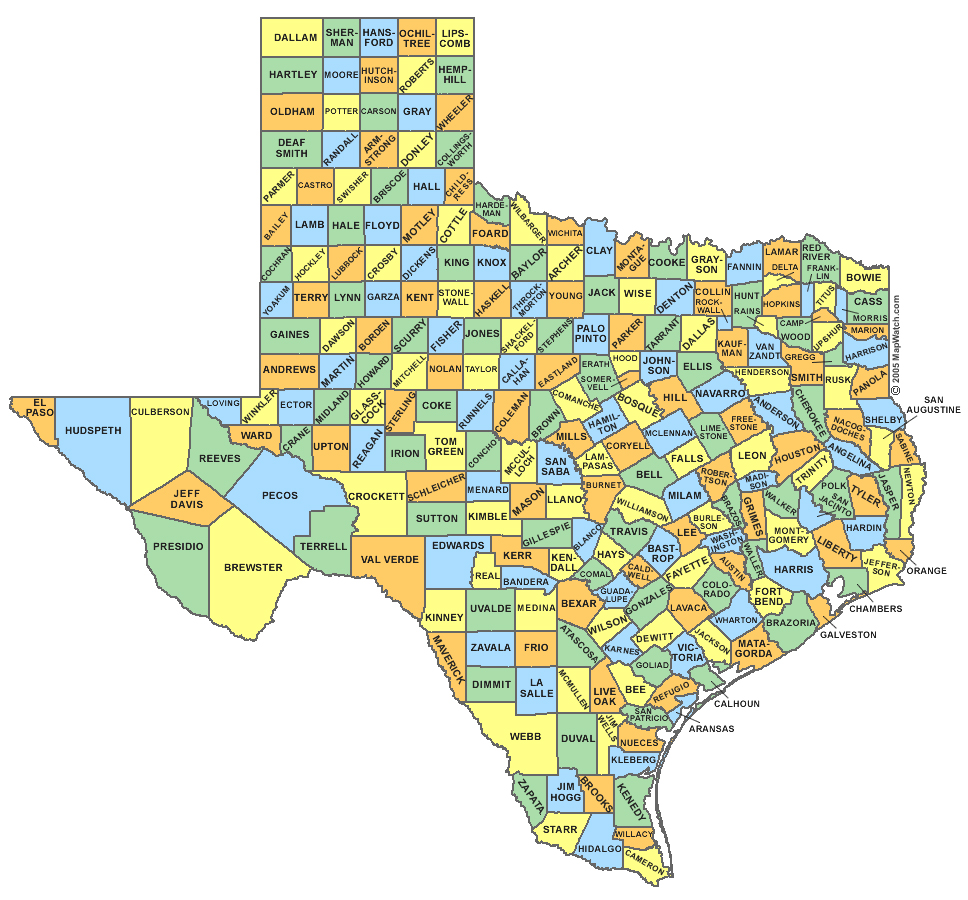 Texascountymap  The Weblog Of Adam Moore